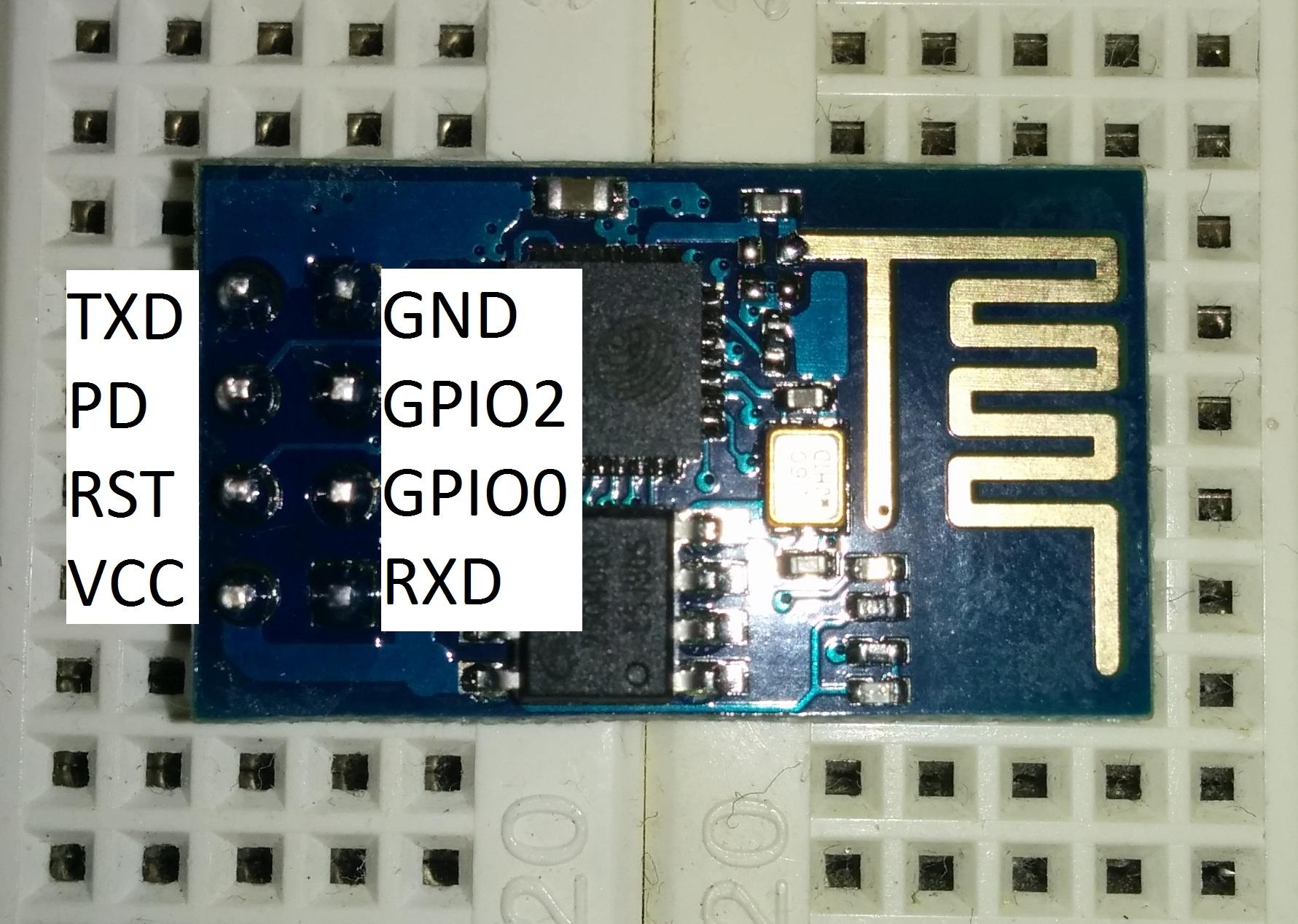 ESP8266 Pinout von oben