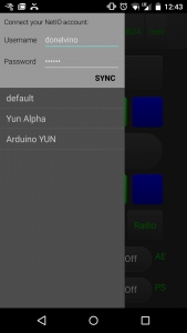 In der App: Sync-Einstellungen