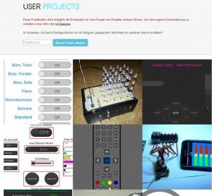 Verschiedene Nutzerprojekte